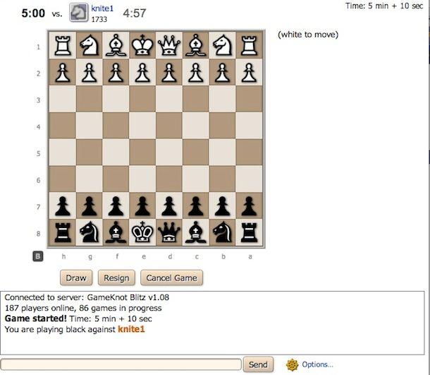 Gioco scacchi online