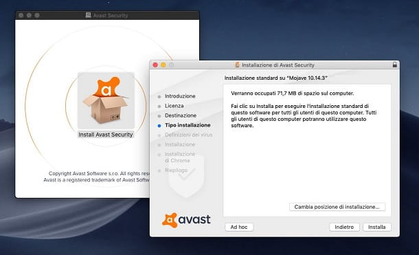 Installazione Avast Antivirus su Mac