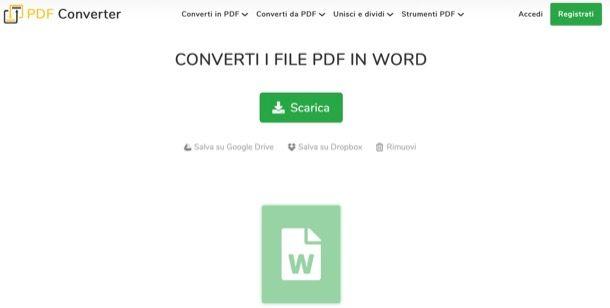 Convertitore Pdf Word Gratis Italiano