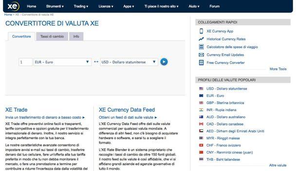 Convertitore Euro Dollaro