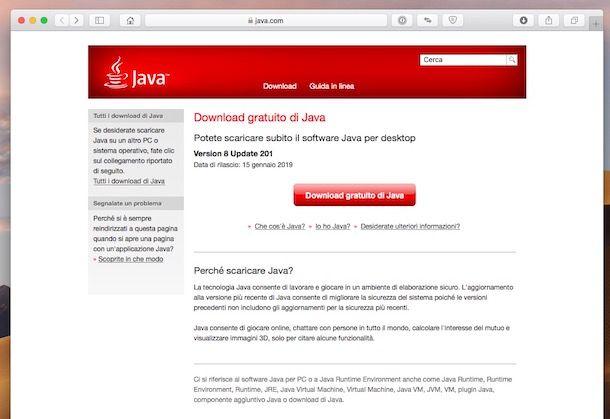Come scaricare Java