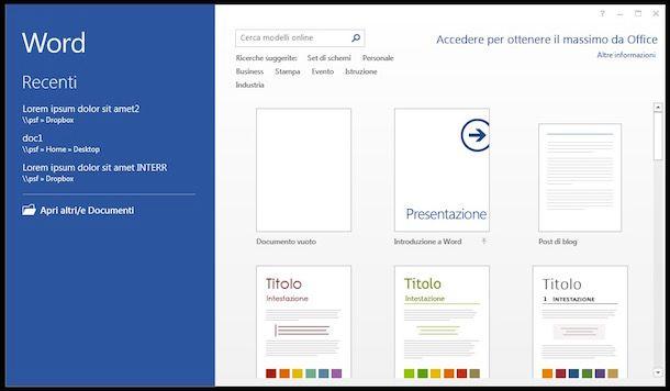 Trasformare PDF in Word