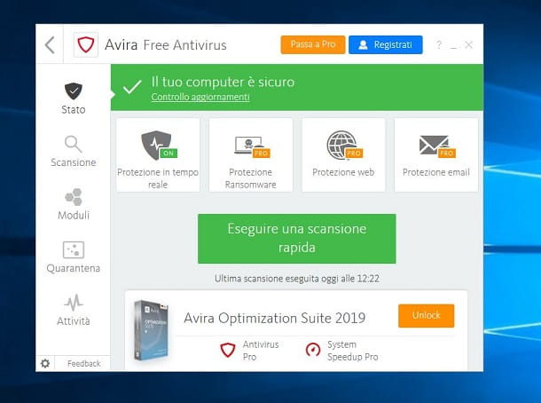 Avira Free Antivirus per Windows