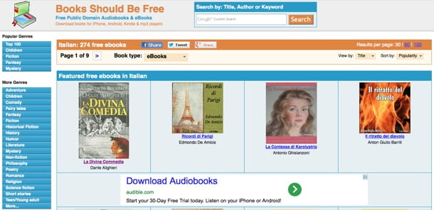 Libri on line gratis da scaricare