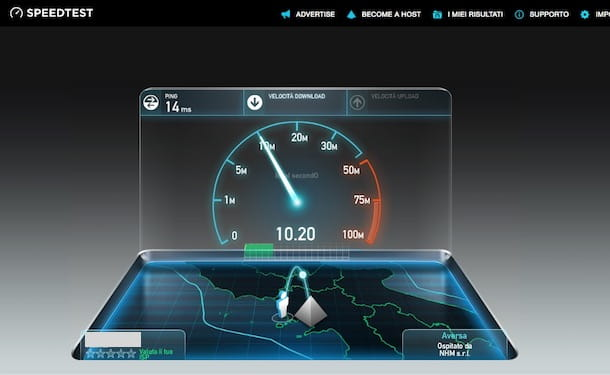 Speed Test Infostrada