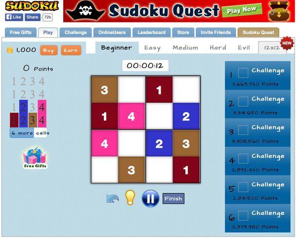 Sudoku on line