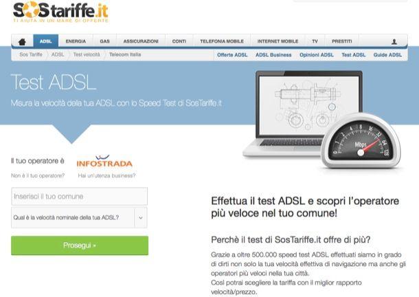 Test ADSL Infostrada