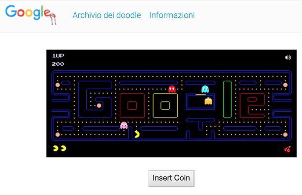 Google Doodle di Pacman