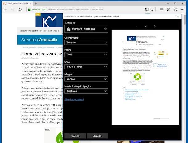 Stampante PDF Windows 10