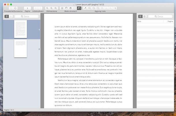 PDF lettore per macOS