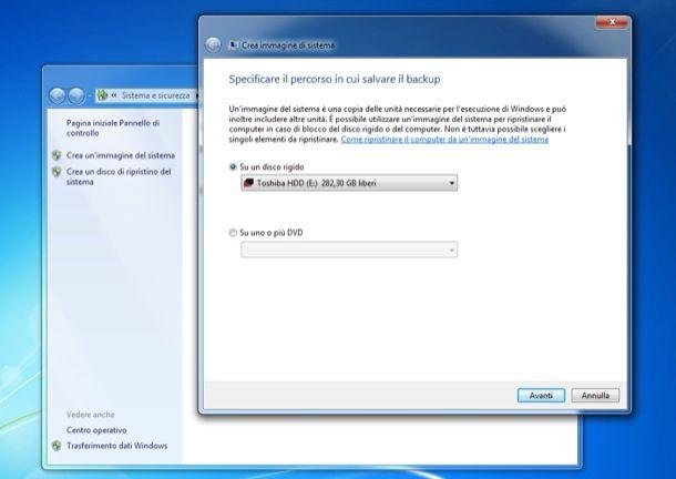 Ripristinare Windows 7