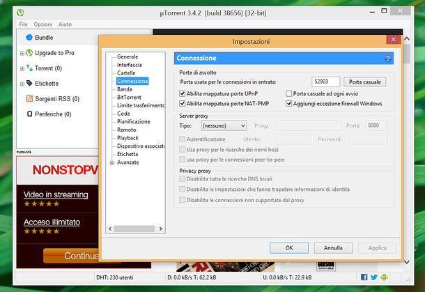 Velocizzare uTorrent