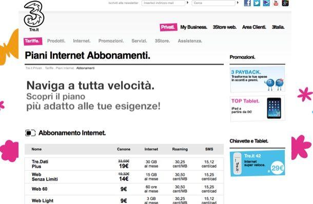 Offerte 3 Internet