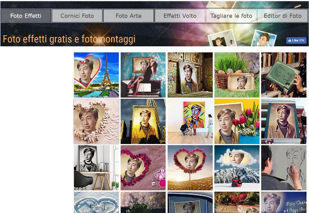 fotomontaggi gratis italiano senza