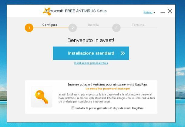 Avast antivirus gratis italiano