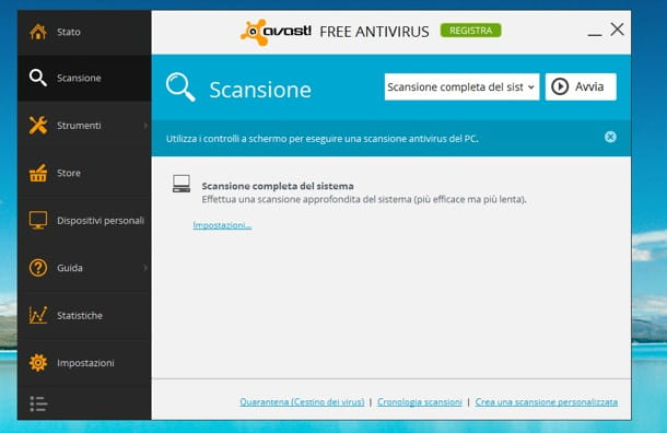 Avast gratis italiano