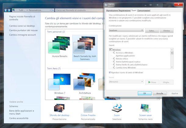 Installazione e personalizzazione temi Windows 7