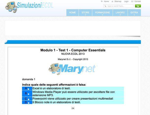 modulo 3 ecdl simulazione online dating