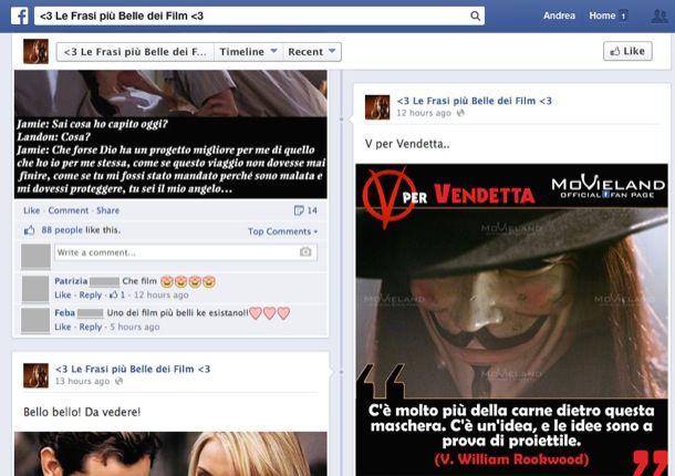 Link per Facebook