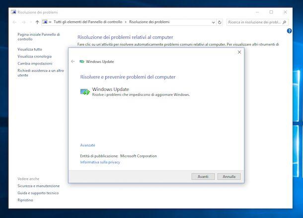 Aggiornamenti Windows