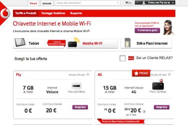 Chiavetta Vodafone
