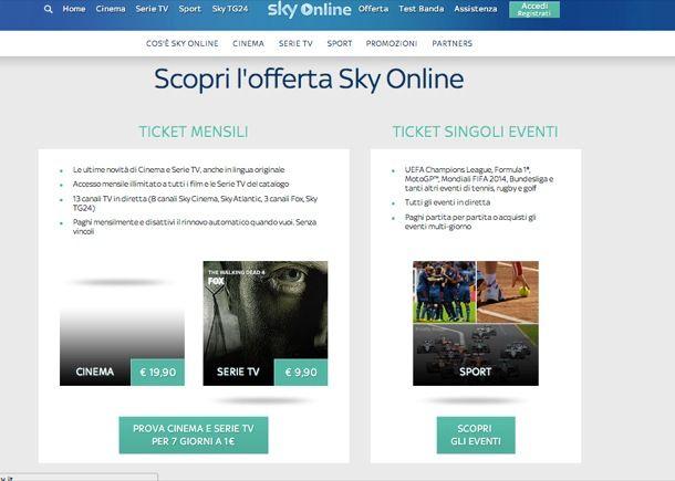 sky gratis online