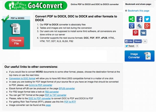 Convertire PDF in Word gratis