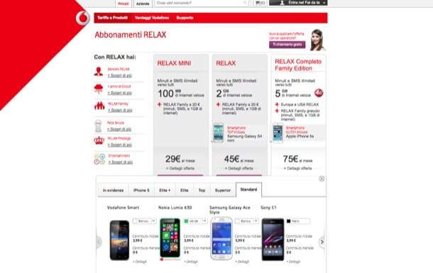 Smartphone Vodafone