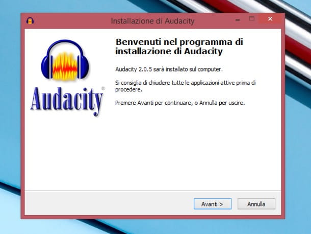 Audacity italiano