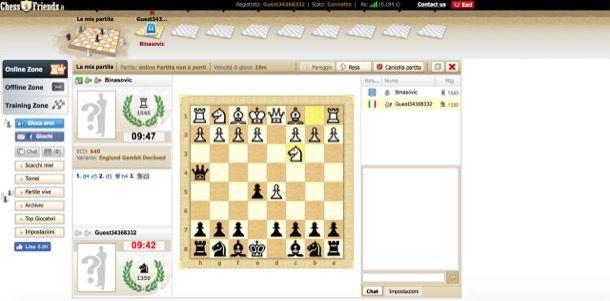 Altri siti per gioco scacchi gratis on line