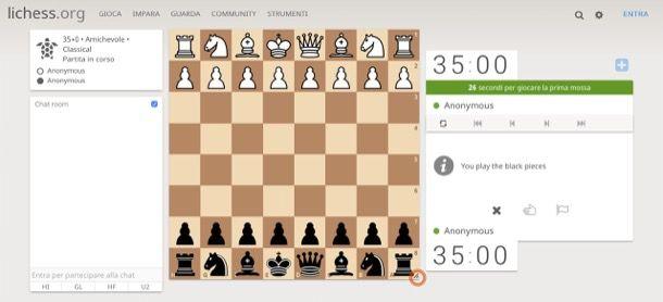 Gioco scacchi gratis on line