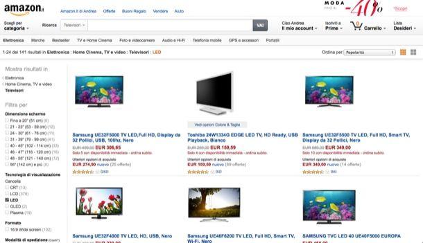 Offerte TV LED