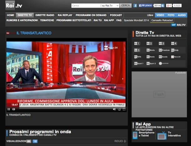 TV sul PC