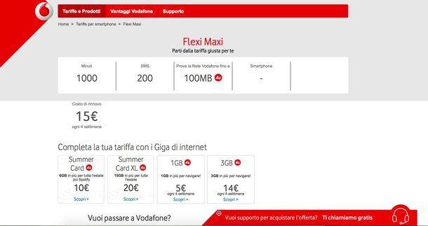 Passa a Vodafone ricaricabile