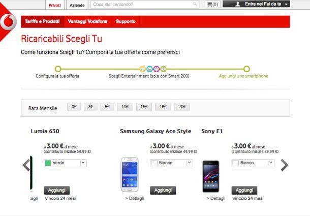 Tariffe Vodafone ricaricabile