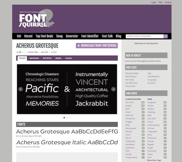 Font gratis da scaricare