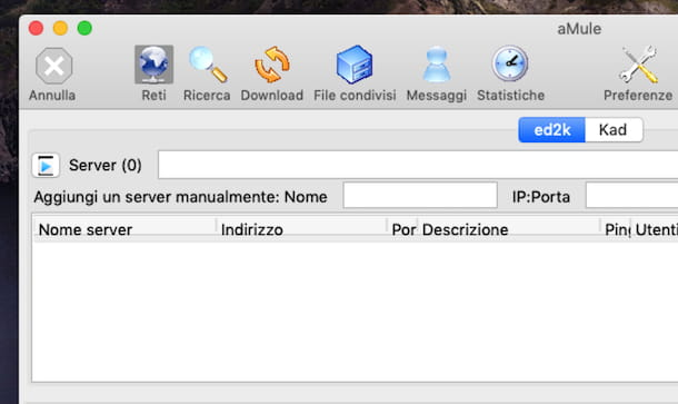 Aggiornare lista server aMule