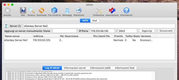 Indirizzi server aMule