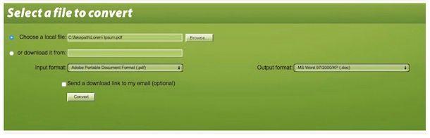 Convertire file PDF in Word gratis