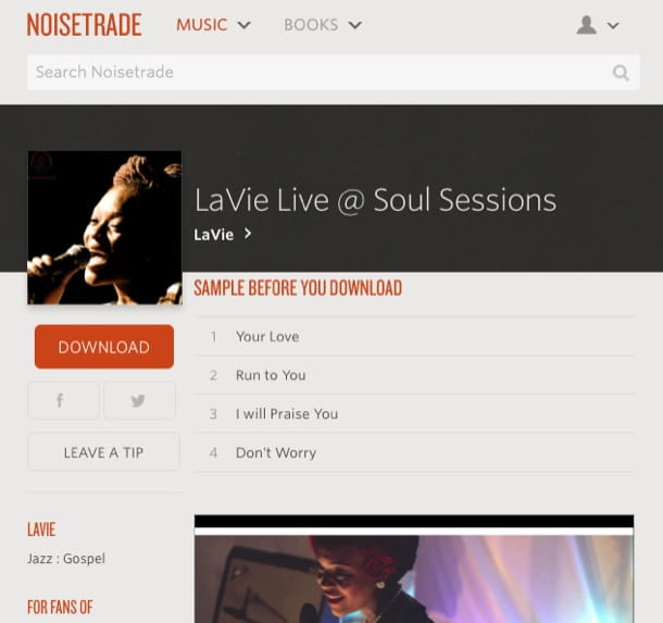 Scaricare musica gratis MP3