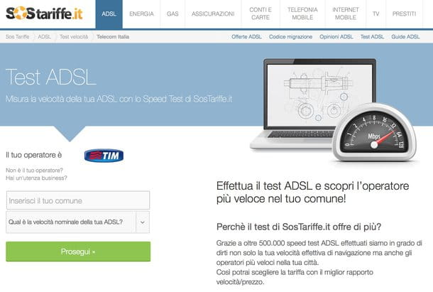 Velocità ADSL
