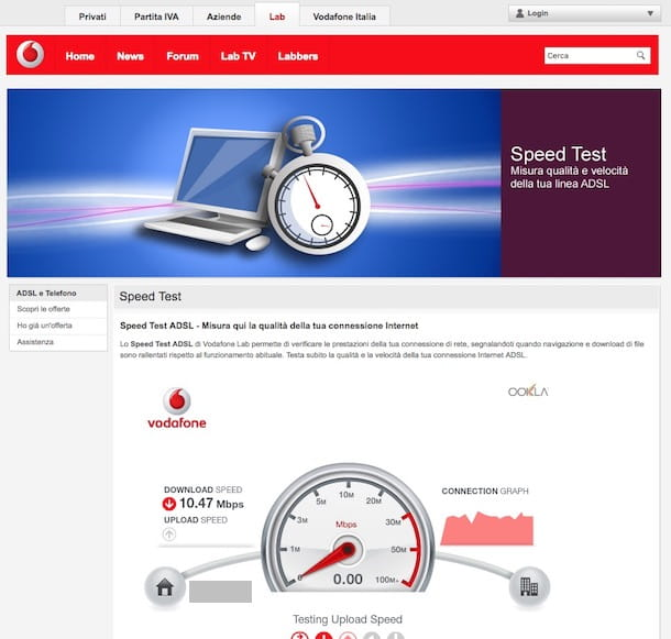 Speed Test Vodafone