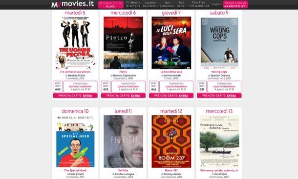 Vedere film gratis su Internet