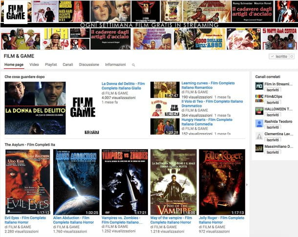 Vedere film in streaming GRATIS - HD - ITA: lista dei