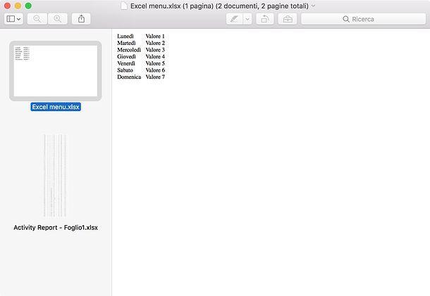 Convertire file Excel in PDF
