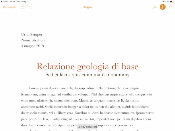 Pages su iPad