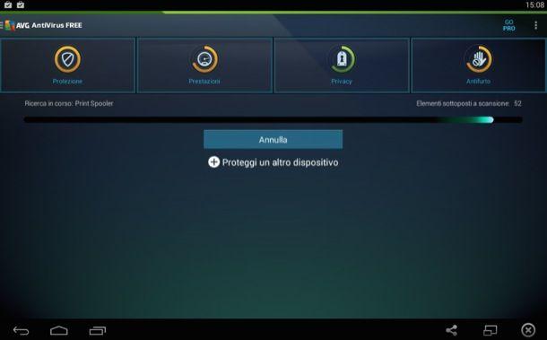 Antivirus per tablet