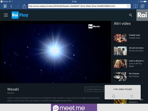 Scaricare film su iPad