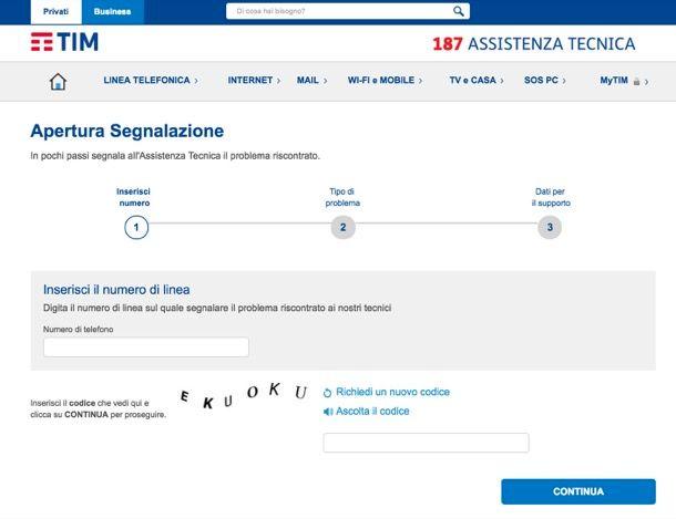 Speed Test ADSL Telecom Italia