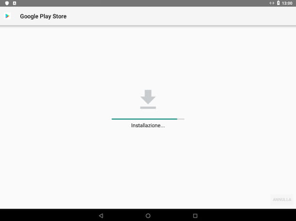 Installazione Play Store tablet Android